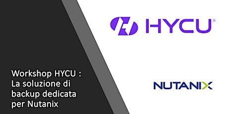 Workshop: la soluzione di backup dedicata per Nutanix biglietti