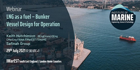 WEBINAR: LNG as a fuel – Bunker Vessel Design for Operation tickets