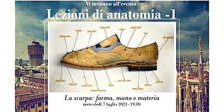La scarpa: forma, mano e materia biglietti