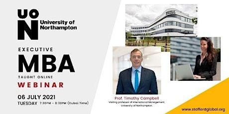 University of Northampton Executive MBA Webinar for Israel tickets