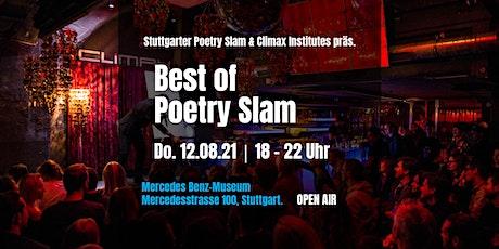 Stuttgarter Poetry Slam & Climax Inst. präs. Best of Poetry Slam • Open Air Tickets