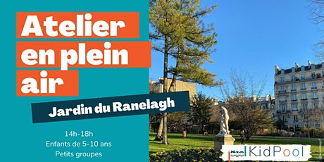 Atelier en plein air - mer. 30/06 14h-18h - Jardin du Ranelagh - 5-10 ans billets