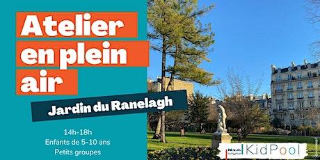 Atelier en plein air - lun. 19/07 14h-18h - Jardin du Ranelagh - 5-10 ans billets