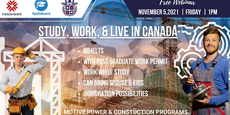 STUDY, WORK,& LIVE IN CANADA WITH FANSHAWE COLLEGE tickets