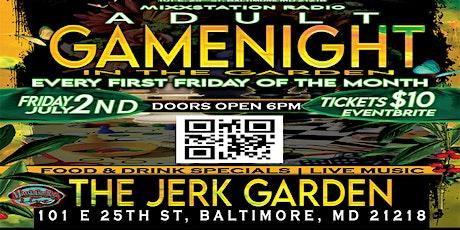 ADULT GAME NIGHT in the Garden @ JERK GARDEN tickets