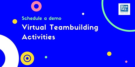 Virtual Teambuilding Activities from BlueSky Learning | Demo tickets