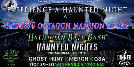 """Haunted Nights & Dinner With A Ghost Present """"The Halloween Ball Bash"""" tickets"""