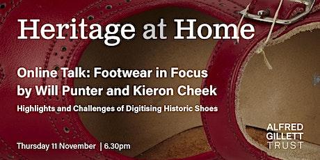 Footwear in Focus (Heritage at Home series) tickets