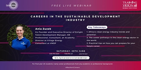 Careers in Sustainable Development Industry tickets