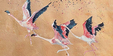 The Friday Gallery Watercolour painting online class: Flamingos tickets