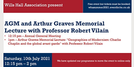 Wills Hall Association | Arthur Graves Memorial Lecture and AGM Tickets