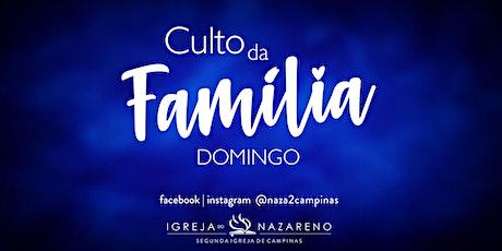 Culto Da Família -  27/06 - 10:30h ingressos