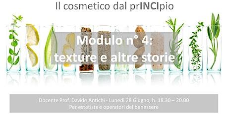Cosmetologia, il cosmetico dal prINCIpio: texture e altre storie entradas
