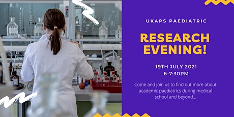 UKAPS Paediatric Research Evening tickets