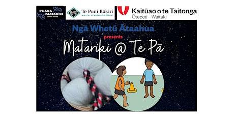 Tumatauenga - Kemū Taongā Tākoro & Poi Mahi Toi Session 1 tickets