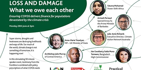 """Loss and Damage """"What we owe each other?"""" tickets"""