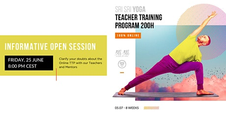 Info Session for Sri Sri Yoga TTP 200H online tickets