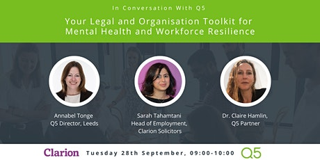 Your Legal & Organisation Toolkit for Mental Health & Workforce Resilience tickets