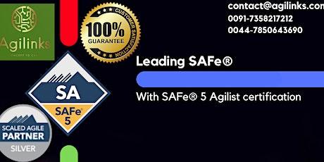 Leading  SAFe (Online/Zoom) July 29-30, Thu-Fri, Chicago  9am-5pm , CDT tickets