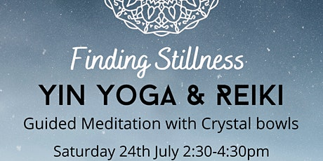 Yin Yoga & Reiki with Guided Meditation with Crystal bowls tickets