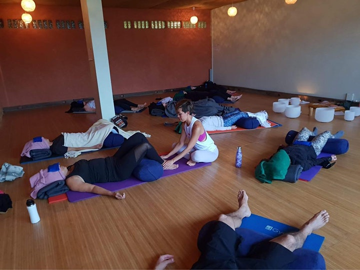 Yin Yoga & Reiki with Guided Meditation with Crystal bowls image