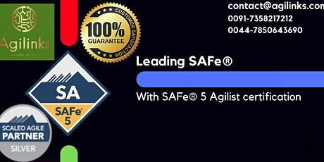 Leading  SAFe (Online/Zoom) July 26-27, Mon-Tue, New York  9am-5pm , EST tickets
