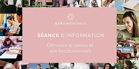 SEANCE D'INFO GENUINE WOMEN billets