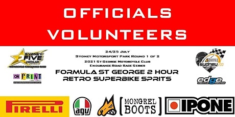 OFFICIALS/VOLUNTEERS  St George MCC Endurance Series Round 1of 2 tickets