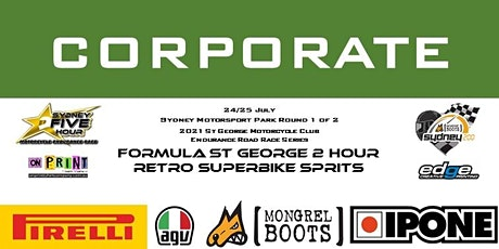 CORPORATE St George Motorcycle Club Endurance Series Round 1of 2 tickets