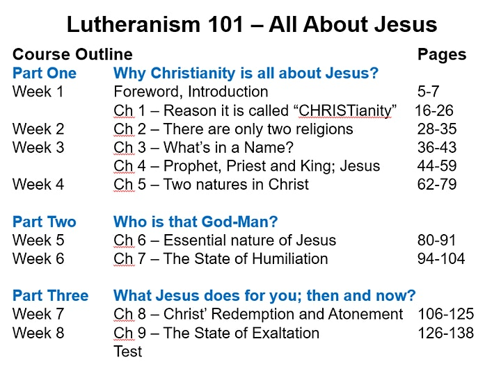 Lutheranism 101: All About Jesus image