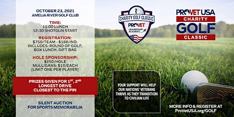 ProVet USA Charity Golf Classic tickets