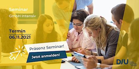 Seminar: GmbH Intensiv / Hybride Veranstaltung Tickets