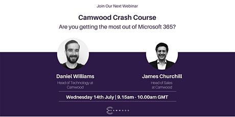 Camwood Crash Course: Are you getting the most out of Microsoft 365? tickets