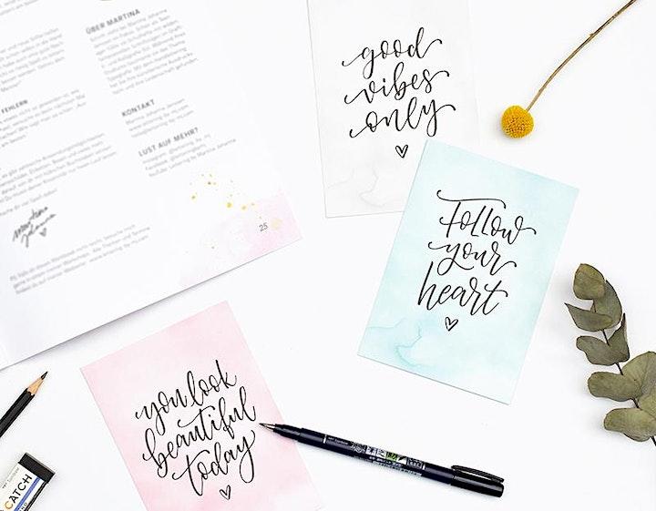 Workshop: Moderne Kalligrafie mit dem Brushpen: Bild