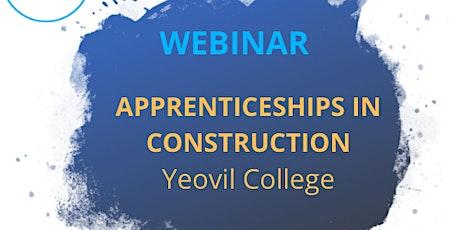 Yeovil College Construction Apprenticeships tickets