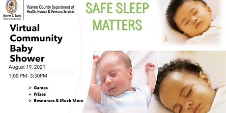 Safe Sleep Matters  Virtual Community Baby Shower tickets