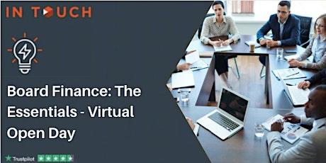 Board Finance: The Essentials - Virtual Open Day tickets