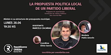 M. Zacarías. La estructura del Presupuesto municipal. 28 de junio 19:30 hs entradas