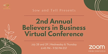 2nd Annual Believers in Business Virtual Conference tickets