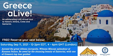 Greece aLIVE! An exhilarating virtual tour to Athens, Crete & Santorini tickets