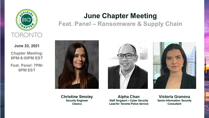 (ISC)2 Toronto Chapter: June 2021 Chapter Meeting image
