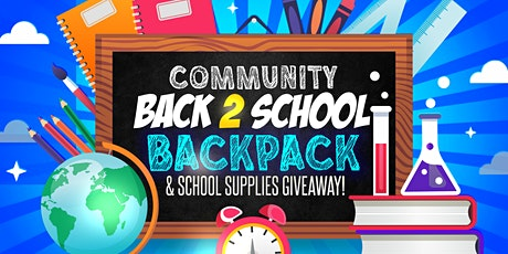 Community Back 2 School Supplies & Backpack Giveaway tickets
