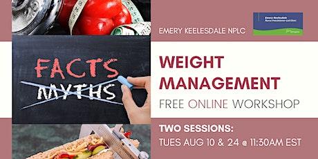 Workshop: Weight Management the Right Way biglietti