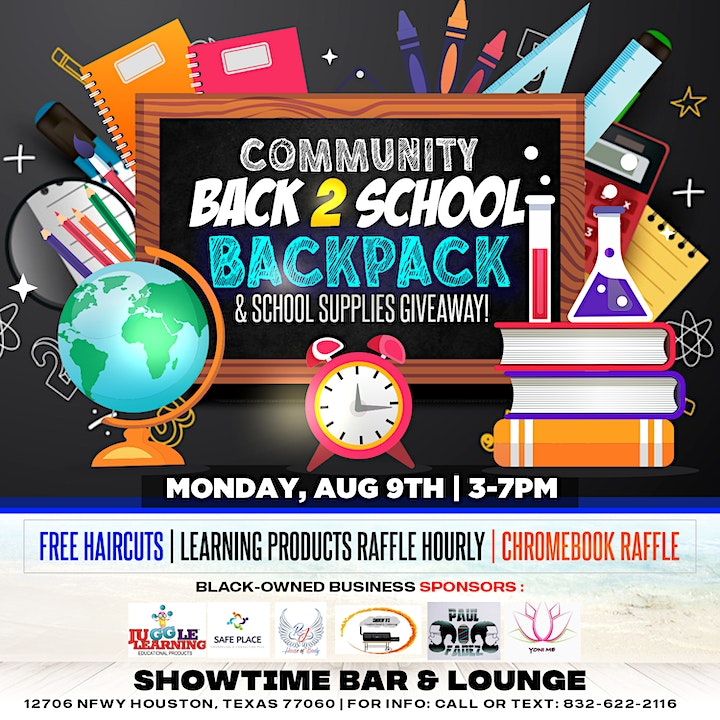Community Back 2 School Supplies & Backpack Giveaway image