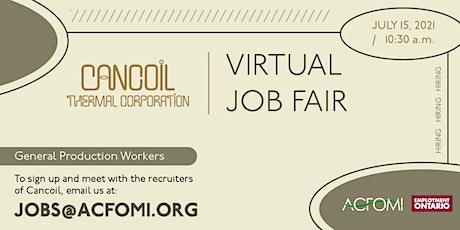 Virtual Job Fair - Cancoil Thermal Corp. - Foire d'emploi virtuelle billets