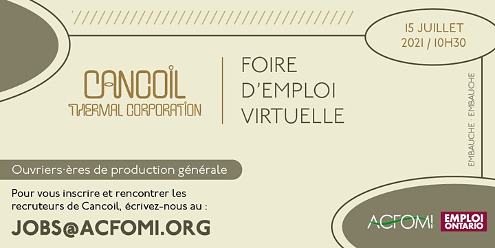 Virtual Job Fair - Cancoil Thermal Corp. - Foire d'emploi virtuelle image