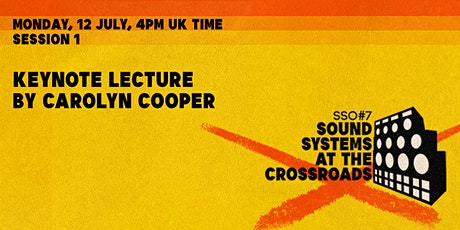 [SSO#7] Keynote Lecture by Carolyn Cooper tickets