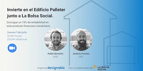 Invierte en el Edificio Palleter de Designable a través de La Bolsa Social. boletos