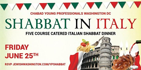 Shabbat in Italy - Dinner & Social for Young Professionals tickets