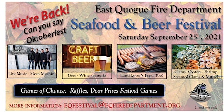 East Quogue Fire Department Seafood & Beer Festival tickets
